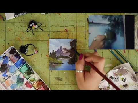 Watch Me Try to Paint Along with Bob Ross! - Joy of Painting