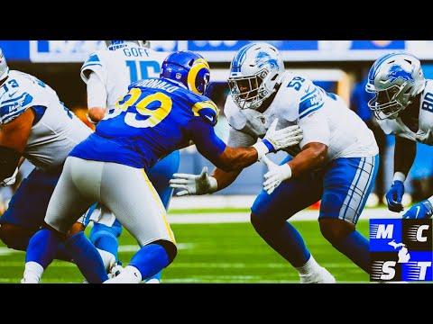 Detroit Lions OL Penei Sewell Shines vs LA Rams | Other Lion Rookies Performance Sunday vs Rams Tlk