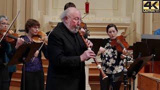 Bach: Arioso (Sinfonia from Cantata 156); Marc Schachman, baroque oboe, Voices of Music 4K