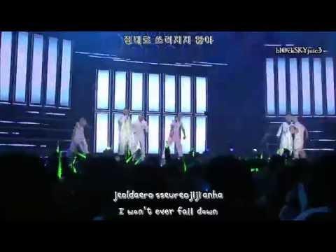 B.A.P - Unbreakable LIVE [hangul / roman / eng sub]