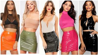 Outstanding Ideas Of Latex Leather Mini Pencil Skirts Outfits For Girls