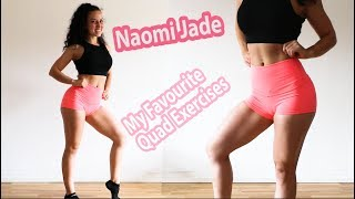 My Favourite Quad Exercises! How to build and isolate your Quads - bodyweight workout! by Naomi Jade UK