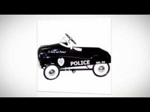 InStep Police Pedal Car Black and White