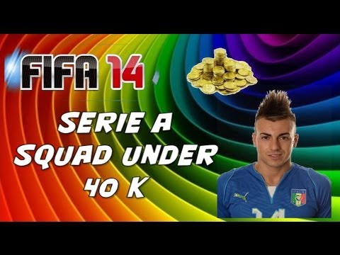 FIFA 14 Squad Builder Seire A squad UNDER 40 K Ft. Balotelli and El Shaarawy