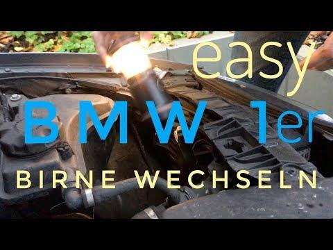 BMW 1er Abblendlicht Birnchen einser Lampe kaputt Birne defekt wechseln tauschen H7 Licht Anleitung