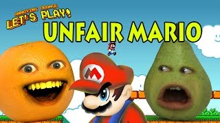 Annoying Orange And Pear Play - Unfair Mario (RAGEQUIT)
