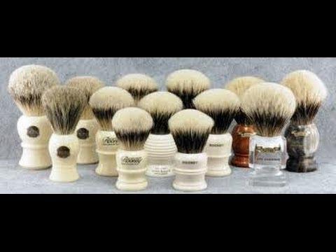 Brochas de afeitar : cuidados y mantenimiento.
