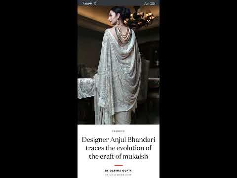 Evolution of the craft of mukaish by Designer Anjul Bhandari