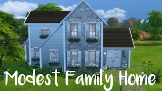 The Sims 4: Speed Build - MODEST FAMILY HOME