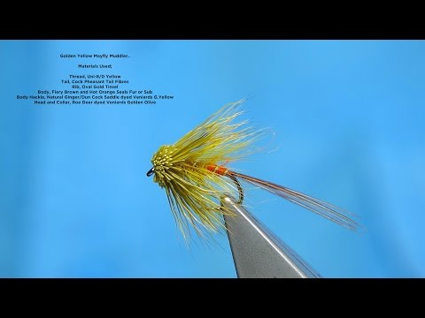 Tying a Golden Yellow Mayfly Muddler by Davie McPhail