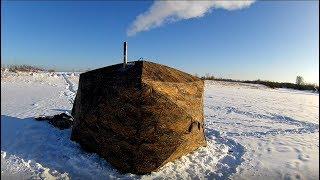 Зимняя палатка с печкой двухслойная