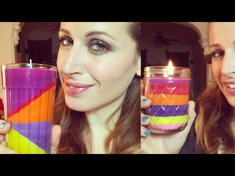 DIY CANDELE DI NATALE SUPER COLORATE FACILI DA FARE!