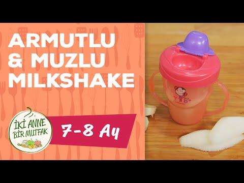 Bebekler İçin Muzlu Milkshake - Armutlu (7 Ay +) | İki Anne Bir Mutfak