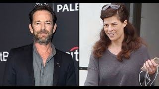 Luke Perry's Fiancee Wendy Madison Bauer Wears Engagement Ring As She's Seen For First Time Since Hi
