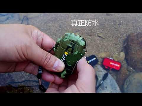 USB зажигалка электронная/электроимпульсная с двойной дугой водонепроницаемая с аккумулятором Explorer (ER-25621) Video #1