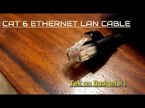 CAT6 Ethernet cable Amazon Basics- Unboxing & Overview