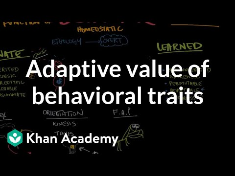 Adaptive value of behavioral traits (video) Khan Academy - behavior log examples
