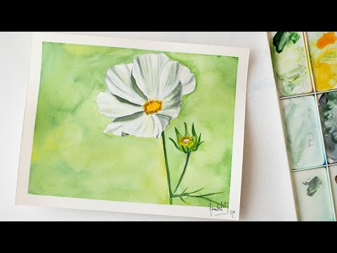 Spring FLOWER watercolor painting for beginners