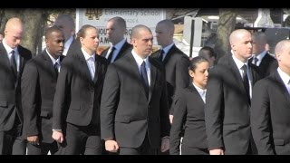 preview picture of video 'Trooper Donald Fredenburg Funeral 03192015 Troopers Gathering Outside Church in Utica'
