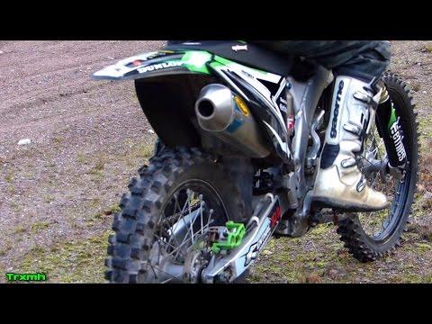 Kawasaki KX250F FMF MegaBomb Soundcheck & Test Ride