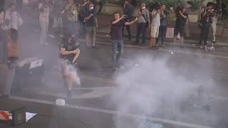 Phoenix protester hit in groin with rubber bullet