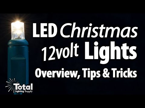 LED 12volt AC Christmas Lights for your existing Outdoor Lighting System & Overview