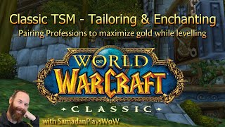 WoW Classic TSM - Enchanting and Tailoring - Early Levels
