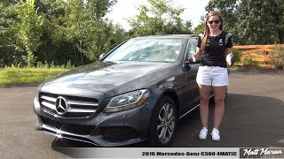 My Wife Reviews Her 2016 Mercedes-Benz C300 4MATIC!