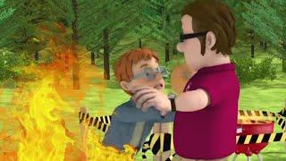 Sicherer Abstand zum Grill   Feuerwehrmann Sam 🔥 Sicher mit Sam: Feuer