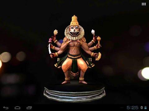 Video of 3D Narasimha Live Wallpaper