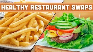 Healthy Restaurant Swaps! How To Eat Healthy When Eating Out - Mind Over Munch
