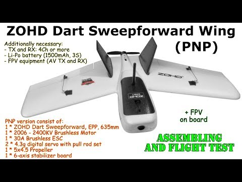 zohd-dart-sweepforward-wing-635mm-gyro-stabilized-epp-fpv-pnp-assembling-and-flight-test