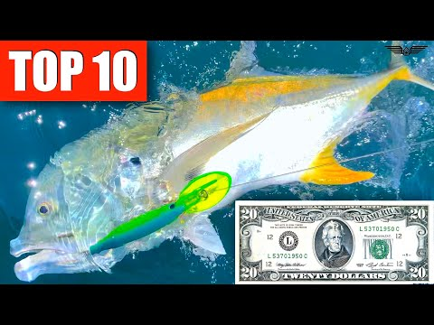 TOP 10 Saltwater TROLLING lures {MONEY}