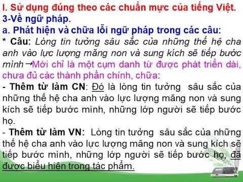 Những yêu cầu sử dụng tiếng Việt