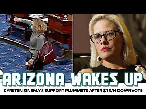 Kyrsten Sinema's Support Plummets After $15/h Downvote