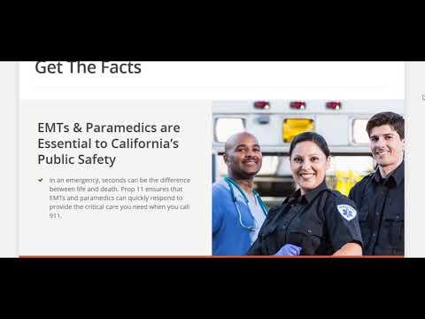 Active Shooter Training EMTs Paramedics EMS California prop 11 FEMA disaster training