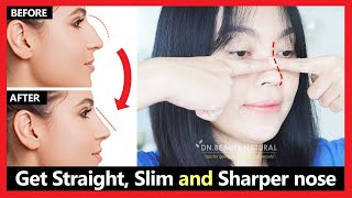 Get rid of hook nose & nose hump reduction naturally | Get Straight, Slim & Sharper nose | Exercises