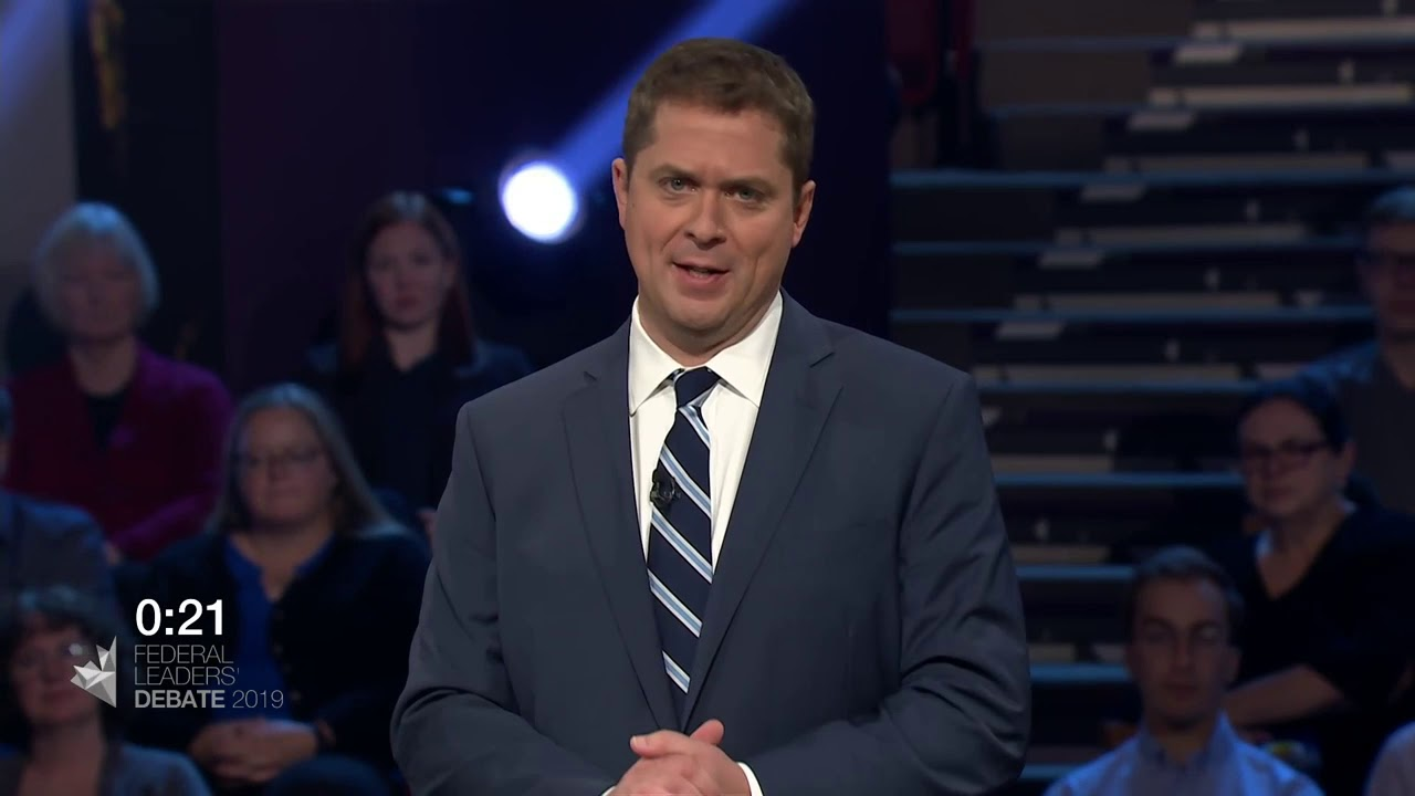 Justin Trudeau debates Andrew Scheer about pipelines vs. climate change