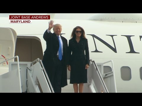 President-elect Trump and family arrive in Washington, DC