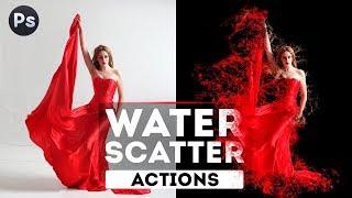Отмокаем вместе с экшеном Water Scatter Photoshop Action