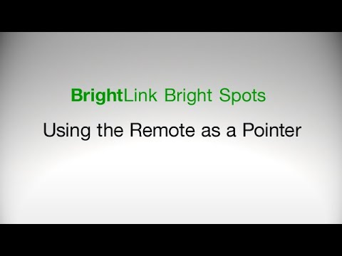 How to Use the Remote Control as a Pointer