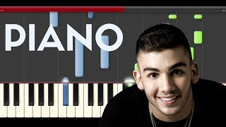 Manuel Turizo Dile La Verdad Jowell & Randy Piano Midi Tutorial Sheet App Cover Karaoke