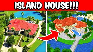 I Built My ISLAND House In MINECRAFT!