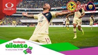 América golea a Pumas y va a la gran final | América 6 - 1 Pumas | Presentado por Bodegas Alianza