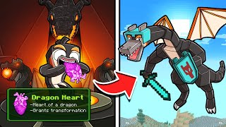 Dragon Survival...Heart of a DRAGON Transformation! (Minecraft)