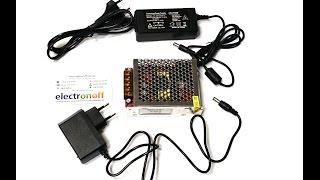 Сетевой адаптер, зарядное устройство,преобразователь напряжения, блок питания 12V 3,5A 40Вт от компании ТехМагнит - видео