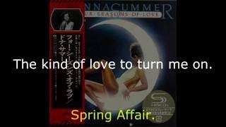 "Donna Summer - Spring Affair LYRICS - SHM ""Four Seasons of Love"" 1976"