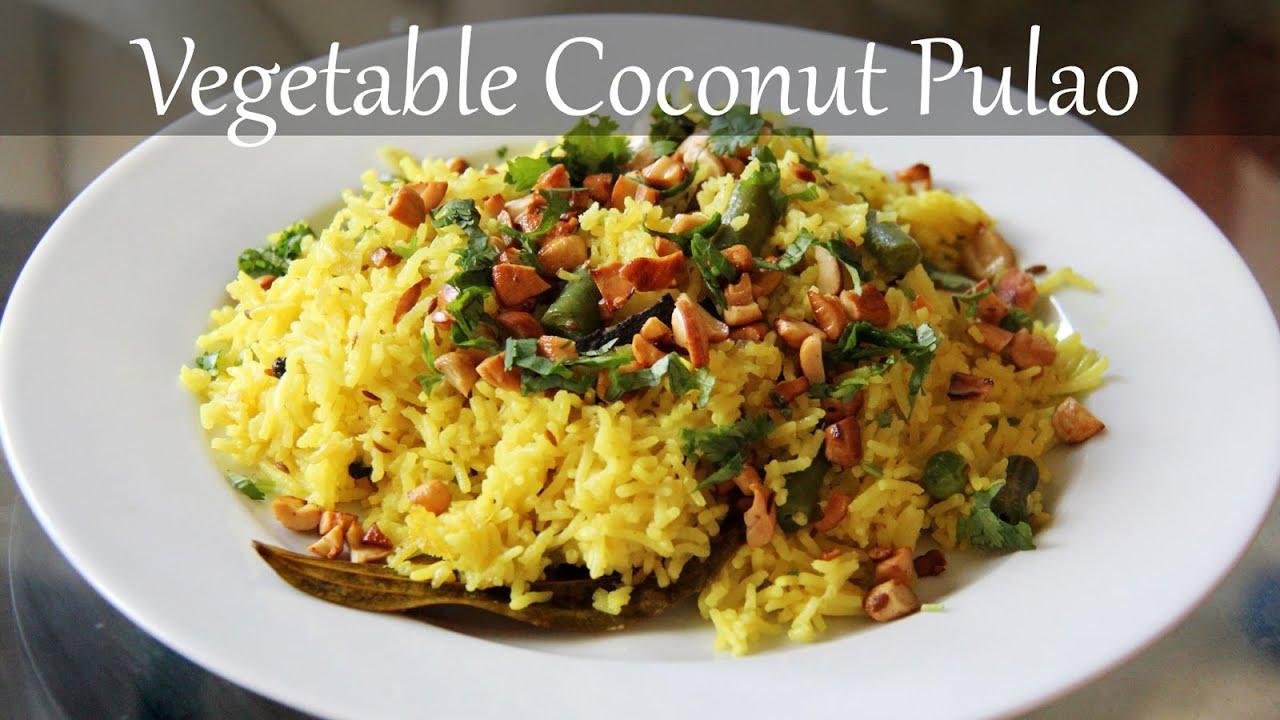 Vegetarian coconut rice recipe quick easy indian lunch dinner vegetarian coconut rice recipe quick easy indian lunch dinner recipes by shilpi forumfinder Images
