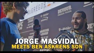 Jorge Masvidal Crosses Paths With Ben Askren's Son