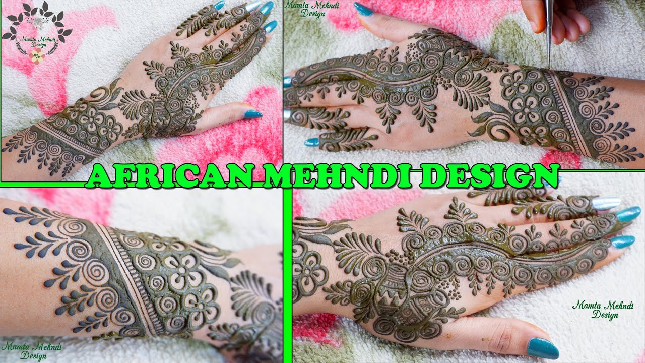 """<p style=""""color: red"""">Video : </p>*African* Mehndi Design for Hands   Cultural Mehndi Design   *New* Easy Back Hand Mehndi DesignsAfrican* Mehndi Design for Hands   Cultural Mehndi Design   New Easy Back Hand Mehndi Designs #AfricanMehndi #MamtaMehndiDesign #CulturalMehndi ... 2020-08-19"""